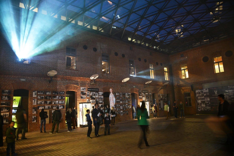 Mapping na Noc Muzeów w Krakowie 2015