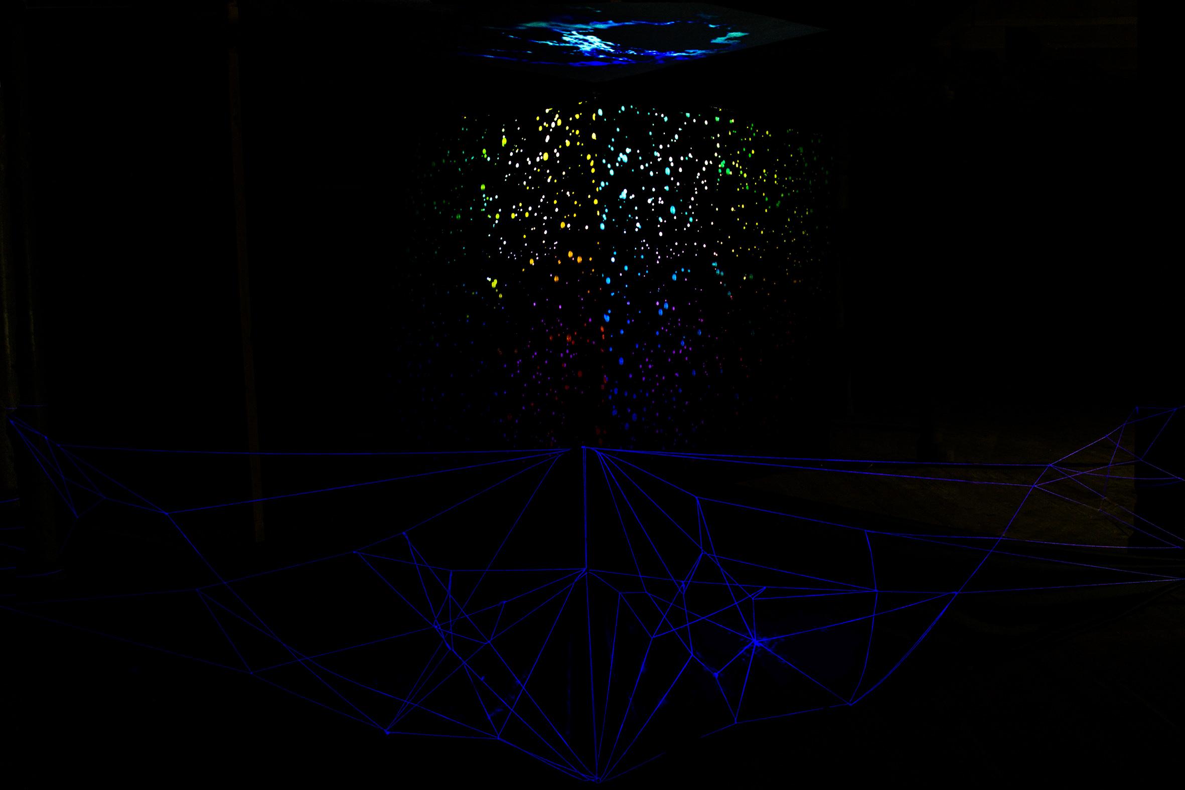 przestrzeń instalacji interaktywnej